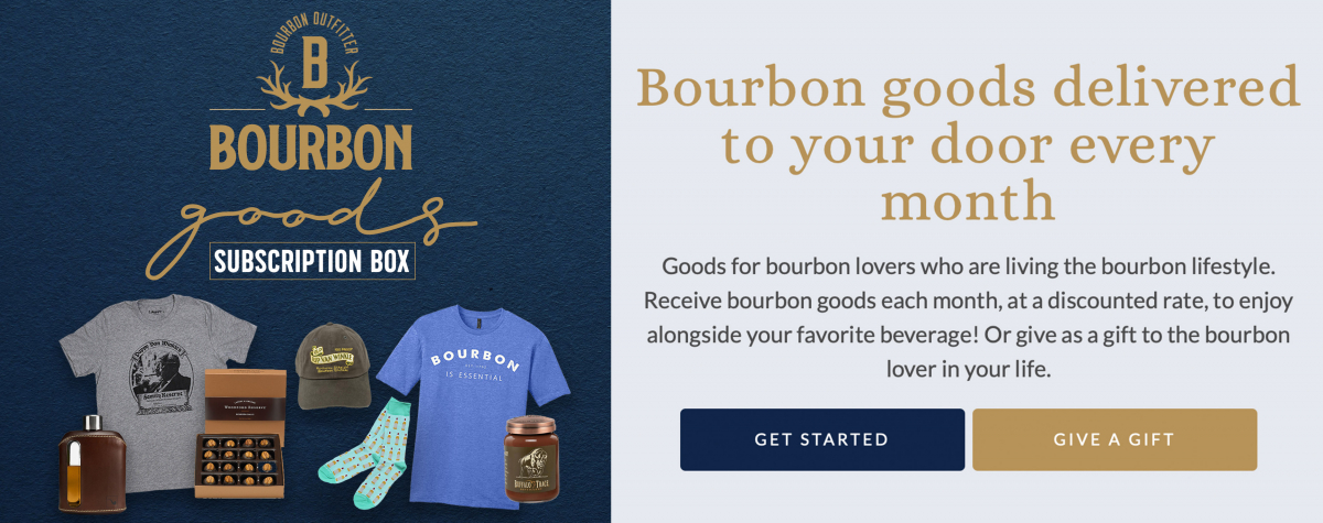 'Bourbon Goods' Box Rectangle