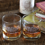 John Wayne Quote Engraved Rocks Glasses (set of 2)