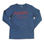 Pappy But Always Fine Bourbon in Navy Long Sleeve T-shirt